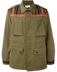Fashion Clinic - Embroidered Panel Field Jacket - Lyst