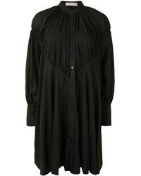 Palmer//Harding マンダリンカラー シャツドレス - ブラック