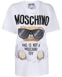 Moschino T-shirt Teddy Bear - Blanc
