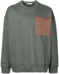 Jil Sander - Large Chest Pocket Sweatshirt - Lyst
