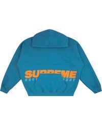 Supreme Hoodie à logo brodé - Bleu