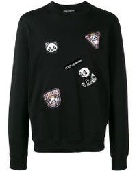 Dolce & Gabbana - Panda Patched Sweatshirt - Lyst