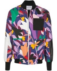 Prabal Gurung Giacca oversize con stampa - Multicolore