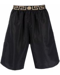 Versace Шорты С Узором Greca - Черный
