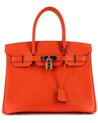 Hermès Borsa tote Birkin Pre-owned - Arancione