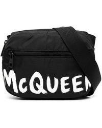 Alexander McQueen Сумка На Плечо С Логотипом - Черный