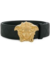 Versace Logo-buckle Belt - Black