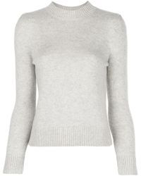 Co. Cashmere Round Neck Sweater - Gray