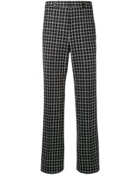 Givenchy - Checked Wool-blend Trousers - Lyst