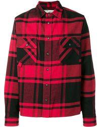 Off-White c/o Virgil Abloh Chemise à carreaux - Rouge