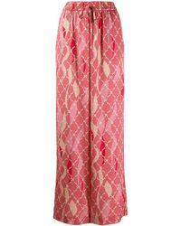 Three Floor Dreamer Printed Wide Pants - Pink