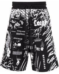 Mauna Kea Graphic Print Shorts - Black