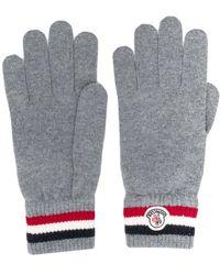 Moncler ストライプ 手袋 - グレー