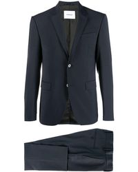 Dondup Single-breasted Two-piece Suit - Blue