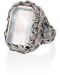 Lyly Erlandsson Серебряное Кольцо Orsay С Кристаллом - Металлик