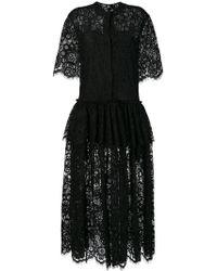 Sara Lanzi - Embroidered Floral Shirt Dress - Lyst
