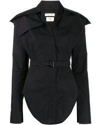 Bottega Veneta ベルテッド シャツ - ブラック