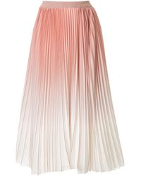 Agnona デグレードプリーツスカート - ピンク