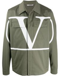 Valentino Vロゴ ジャケット - グリーン