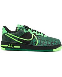 Nike Air Force 1 React Low-top Sneakers - Groen