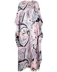 Emilio Pucci Tropico プリント シルクドレス - ピンク