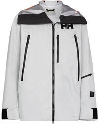 Helly Hansen Куртка С Капюшоном И Логотипом - Серый