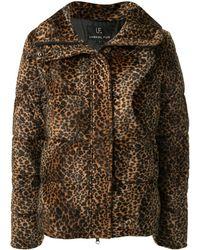 Unreal Fur レオパード パデッドジャケット - ブラウン
