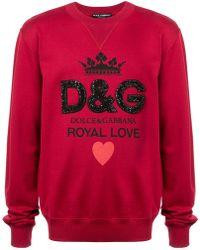 eaa2d17a7e7371 Lyst - Dolce   Gabbana University Of Love Print Jersey Sweater in ...