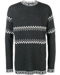 Diesel Black Gold - Intarsia-knit Jumper - Lyst