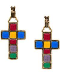Gucci Серьги С Подвесками-крестами - Многоцветный
