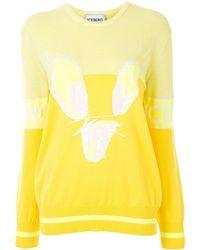 Iceberg Tweety Graphic Sequinned Sweater - Yellow