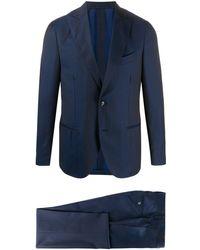 Dell'Oglio ストライプ シングルスーツ - ブルー