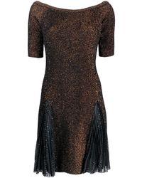 Marco De Vincenzo ボートネック ドレス - ブラック