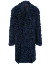 Sies Marjan Blaine Shearling Raglan Coat - ブルー