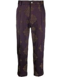 Goodfight Pantalon de costume à motif en jacquard - Violet