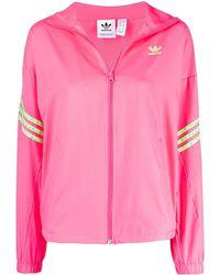 adidas ジップアップ ジャケット - ピンク