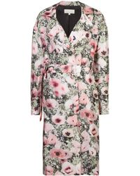 Fleur du Mal Poppy Print Belted Coat - Multicolour