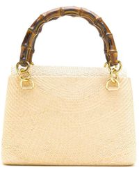 Serpui Straw Shoulder Bag - Multicolor