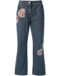 Dior Pre-owned Jeans Verfraaid Met Patch - Blauw