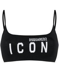 DSquared² Icon スポーツブラ - ブラック