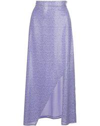 Olivia Rubin Slit-detail High-waist Skirt - Purple