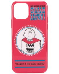 Marc Jacobs Etui pour iPhone 11 rouge Charlie Brown edition Peanuts
