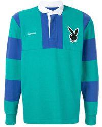 Supreme Playboy ラガーシャツ - ブルー