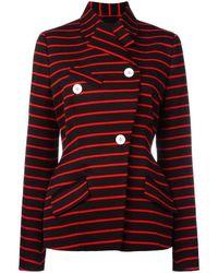 Proenza Schouler Wrap Front Striped Jacket - Zwart