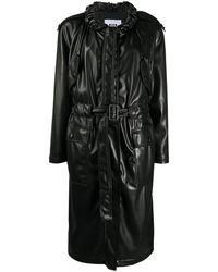 MSGM - Пальто Из Искусственной Кожи Со Сборками - Lyst