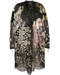 Biyan - Floral Embroidered Coat - Lyst