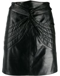 Isabel Marant Leather Skirt Black