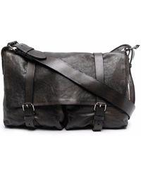 Numero 10 Omah Leather Satchel Shoulder Bag - Black