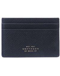 Smythson Panama カードケース - ブルー