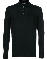 Drumohr ニットポロシャツ - ブラック